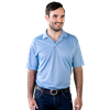 MENS SOLID WICKING POLO  -  LIGHT BLUE EXTRA SMALL SOLID