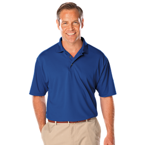 MENS SOLID WICKING POLO  -  ROYAL EXTRA SMALL SOLID