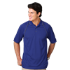 MENS WICKING PIPED POLO  -  ROYAL EXTRA LARGE SOLID
