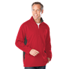 MENS WICKING 1/2 ZIP BLOCKED  -  RED SMALL TRIM GRAPHITE