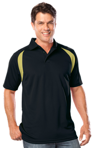 MENS WICKING CONTRAST INSERT  -  BLACK- VEGAS GOLD EXTRA LARGE TRIM VEGAS GOLD