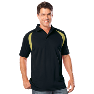 MENS WICKING CONTRAST INSERT CO# -  BLACK- VEGAS GOLD EXTRA LARGE TRIM VEGAS GOLD