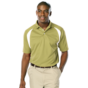 MENS WICKING CONTRAST INSERT  -  VEGAS GOLD EXTRA LARGE TRIM WHITE