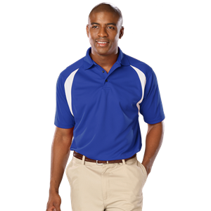 MENS WICKING CONTRAST INSERT  -  ROYAL SMALL TRIM WHITE