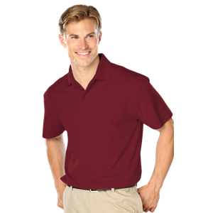 MENS WICKING SOLID SNAG RESIST POLO   -  BURGUNDY EXTRA LARGE SOLID