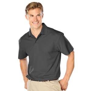 MENS WICKING SOLID SNAG RESIST POLO   -  GRAPHITE EXTRA LARGE SOLID