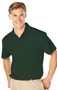 MENS WICKING SOLID SNAG RESIST POLO   -  HUNTER EXTRA LARGE SOLID