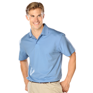 MENS WICKING SOLID SNAG RESIST POLO   -  LIGHT BLUE EXTRA LARGE SOLID