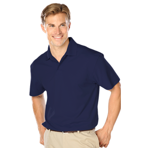 MENS WICKING SOLID SNAG RESIST POLO   -  NAVY EXTRA LARGE SOLID