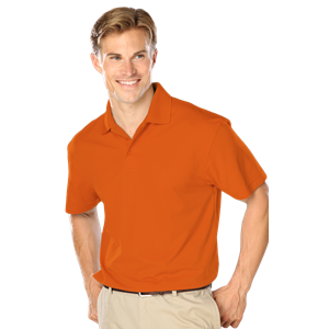 MENS WICKING SOLID SNAG RESIST POLO   -  ORANGE EXTRA LARGE SOLID