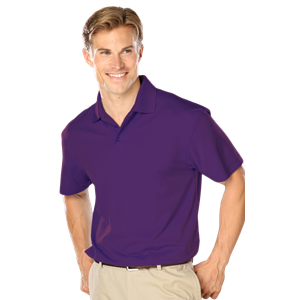 MENS WICKING SOLID SNAG RESIST POLO   -  PURPLE EXTRA LARGE SOLID