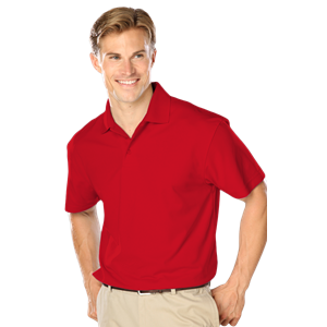 MENS WICKING SOLID SNAG RESIST POLO   -  RED EXTRA LARGE SOLID