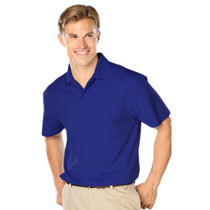 MENS WICKING SOLID SNAG RESIST POLO   -  ROYAL EXTRA LARGE SOLID