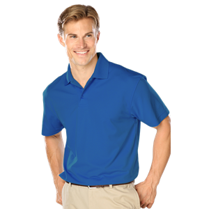 MENS WICKING SOLID SNAG RESIST POLO   -  TURQUOISE EXTRA LARGE SOLID