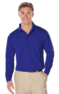 ADULT L/S SNAG RESISTANT MOISTURE WICKING POLO  -  ROYAL EXTRA LARGE SOLID