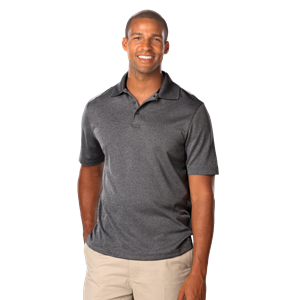 MEN'S HEATHERED WICKING POLO  -  GREY HEATHER EXTRA LARGE SOLID
