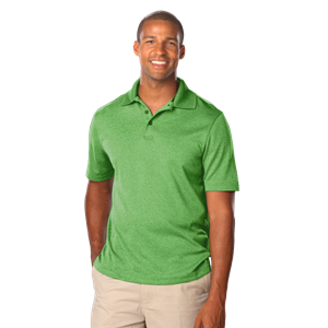 MEN'S HEATHERED WICKING POLO  -  HEATHER KELLY EXTRA LARGE SOLID