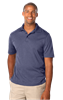 MEN'S HEATHERED WICKING POLO  -  HEATHER NAVY EXTRA LARGE SOLID
