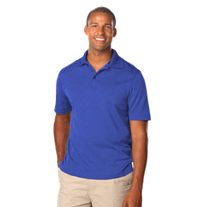 MEN'S HEATHERED WICKING POLO  -  HEATHER ROYAL EXTRA LARGE SOLID