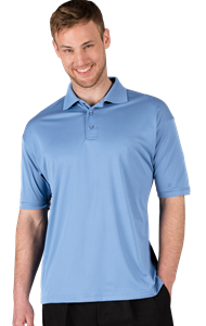 MEN'S ULTRA LUX POLO  -  LIGHT BLUE EXTRA LARGE SOLID