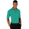MEN'S NAILHEAD S/S POLO  -  JADE SMALL TRIM WHITE