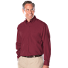 MENS LONG SLEEVE EASY CARE POPLIN WITH MATCHING BUTTONS  -  BURGUNDY EXTRA LARGE SOLID