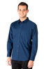 MEN'S SUPERBLEND POPLIN L/S UNTUCKED SHIRT  -  NAVY EXTRA LARGE SOLID