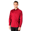 MEN'S SUPERBLEND POPLIN L/S UNTUCKED SHIRT  -  RED EXTRA LARGE SOLID