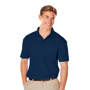 MEN'S VALUE MOISTURE WICKING S/S POLO  -  NAVY EXTRA LARGE TALL SOLID