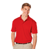 MEN'S VALUE MOISTURE WICKING S/S POLO  -  RED EXTRA LARGE SOLID