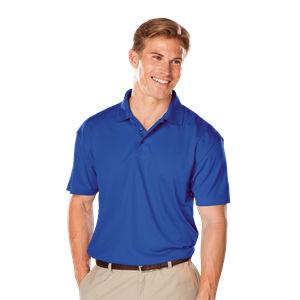 MEN'S VALUE MOISTURE WICKING S/S POLO  -  ROYAL EXTRA LARGE TALL SOLID