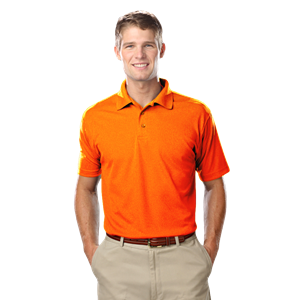 MEN'S TALL VALUE MOISTURE WICKING S/S POLO  -  SAFETY ORANGE EXTRA LARGE TALL SOLID