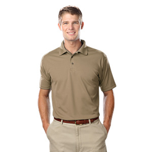 MEN'S VALUE MOISTURE WICKING S/S POLO  -  TAN EXTRA LARGE SOLID