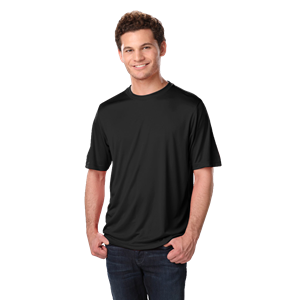 ADULT SOLID WICKING T   -  BLACK EXTRA EXTRA SMALL SOLID
