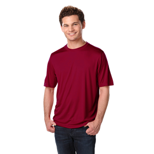 ADULT SOLID WICKING T  -  BURGUNDY EXTRA EXTRA SMALL SOLID