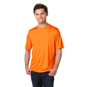 ADULT SOLID WICKING T  -  SAFETY ORANGE EXTRA EXTRA SMALL SOLID