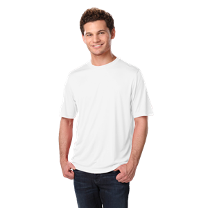 ADULT SOLID WICKING T  -  WHITE EXTRA EXTRA SMALL SOLID
