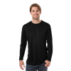 ADULT VALUE L/S WICKING TEE  -  BLACK EXTRA EXTRA SMALL SOLID