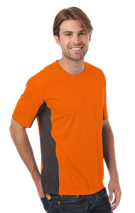 MEN'S COLORBLOCK WICKING TEE  -  SAFETY ORANGE EXTRA LARGE SOLID