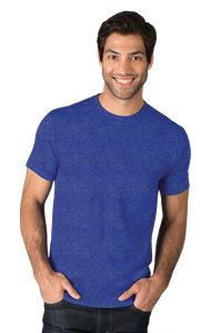 ADULT TRIBLEND SHORT SLEEVE CREW NECK TEE  -  ROYAL EXTRA SMALL SOLID