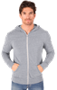 ADULT TRIBLEND ZIP FRONT HOODIE  -  LIGHT GREY EXTRA SMALL SOLID