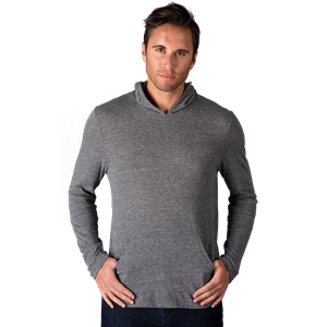 ADULT TRIBLEND PULLOVER HOODIE  -  GREY EXTRA SMALL SOLID