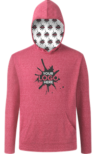 YOUR LOGO HERE ADULT TRIBLEND PULLOVER HOODIE RED EXTRA SMALL SOLID