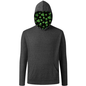St. Patrick's Adult Triblend Pullover Hoodie BLACK EXTRA SMALL SOLID