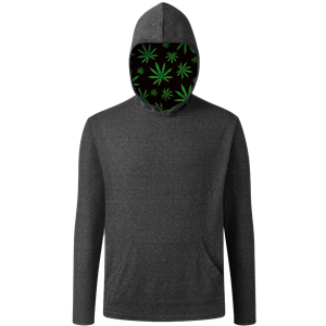 CANNABIS PULLOVER TRIBLEND BLACK EXTRA SMALL SOLID