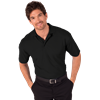 MEN'S S/S VALUE PIQUE POLO  -  BLACK EXTRA SMALL SOLID