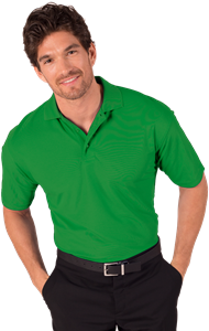 MEN'S S/S VALUE PIQUE POLO  -  KELLY EXTRA SMALL SOLID