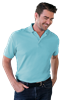 MENS VALUE SOFT TOUCH PIQUE POLO -  AQUA EXTRA LARGE SOLID