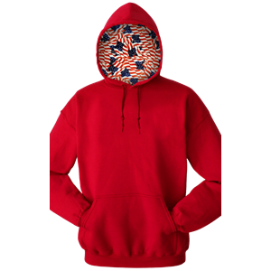 Americana ADULT FLEECE PULLOVER HOODIE RED EXTRA SMALL SOLID