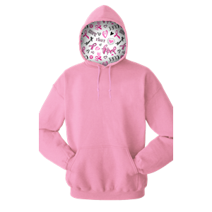 CANCER CARE PULLOVER PINK EXTRA SMALL SOLID